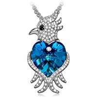 J.NINA Jewlelry Agapornis Parrot Design Women Pendant Necklace