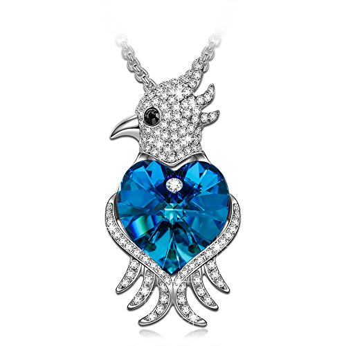 Gift for Her J.NINA Cute Animals Agapornis Parrot Pendant