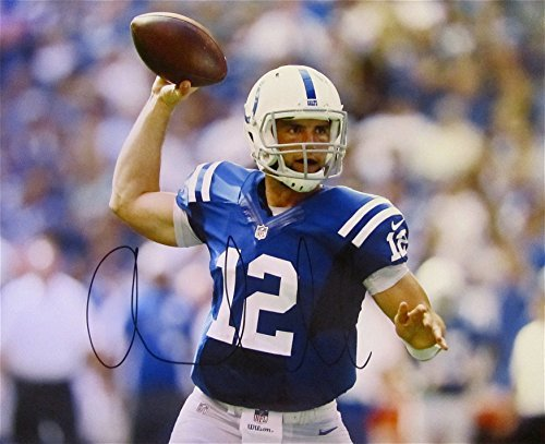 ANDREW LUCK INDIANAPOLIS COLTS HAND SIGNED AUTOGRAPHED PHOTO POSTER 16x20 w/COA