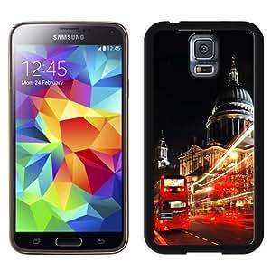 NEW Unique Custom Designed Samsung Galaxy S5 I9600 G900a G900v G900p G900t G900w Phone Case With London St Paul Cathedral Double Decker_Black Phone Case