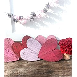 Rustic Valentine's Day - Rustic Decor - Valentine's Day Decorations - Farmhouse Decor - Wood Heart Decor - Valentine's Day Yard Sign - Rustic Wall Art
