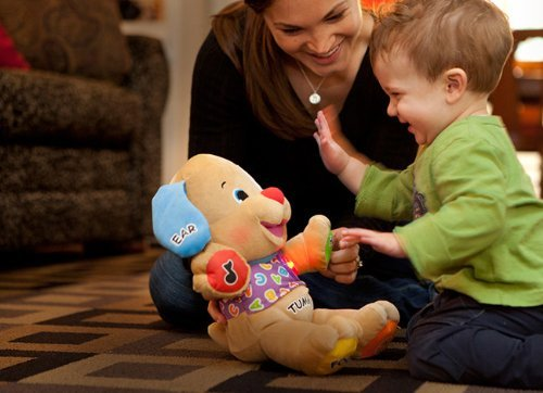 Fisher Price Laugh & Learn Puppy with Light Up Heart by Fisher-Price: Amazon.es: Juguetes y juegos