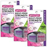 Nutra Nail's Bullet-Proof Strengthening Formula w/FREE High Gloss Top Coat (Pack of 3)