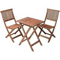 山善 ガーデンマスター フォールディングテーブル&チェア 3点セット FWTS-60