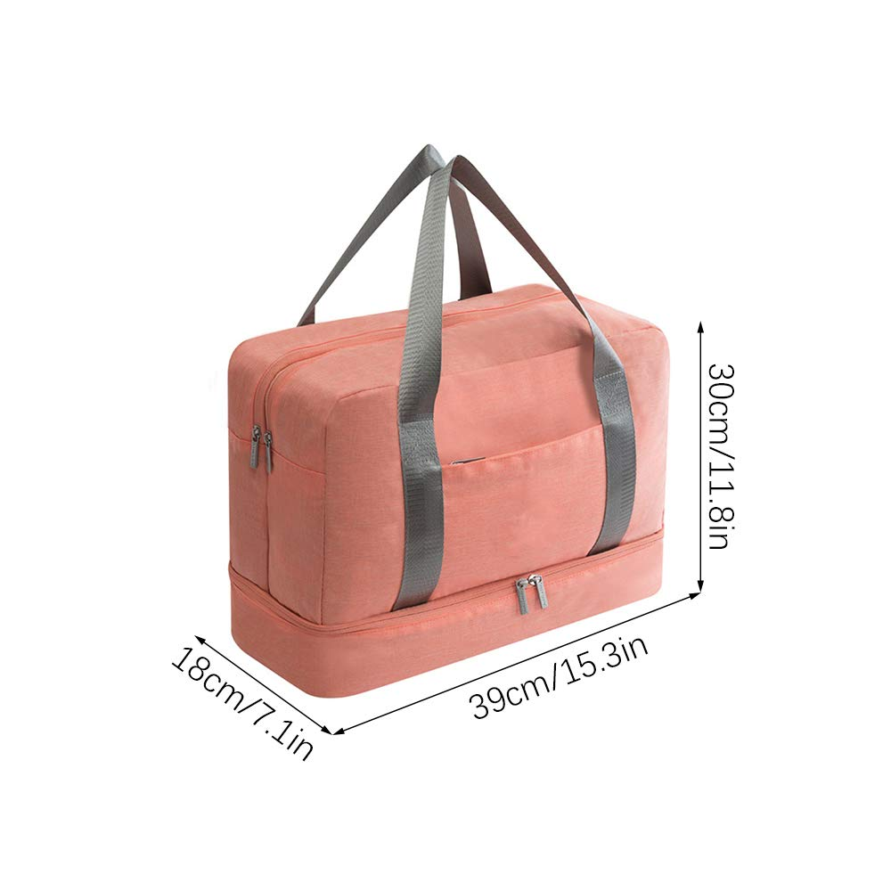 HXHON Swimming Bag Duffle Gym Bag with Dry Wet Pocket and Shoes Compartment Waterproof Beach Bag Fitness Bath Bag Sports Travel Luggage