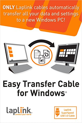 Laplink Easy Transfer Cable for Windows - USB 3.0 by Laplink Software, Inc.