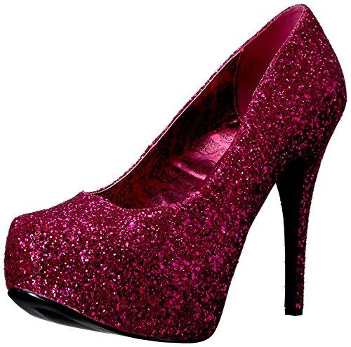 Décolleté Hpg 06gw chiusa donna Teeze per punta glitter Pleaser con rosa qv4ECZxR