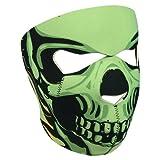 "Balaclava mask protection neoprene ""green skull"" - one size adjustable - airsoft - paintball - outdoor - ski - snow - surf - motorbike - biker - quad bike"