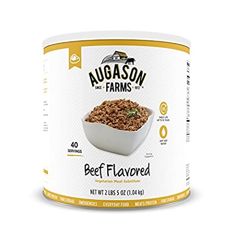 Augason Farms Beef Flavored Vegetarian Meat Substitute 2 lbs 5 oz No. 10 Can - 2 Lb Beef