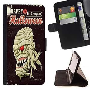 Dragon Case - FOR HTC One M7 - Happy Hallowen party - Caja de la carpeta del caso en folio de cuero del tir¨®n de la cubierta protectora Shell