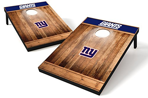 - Wild Sports NFL New York Giants 2'x3' Cornhole Set - Brown Wood Design