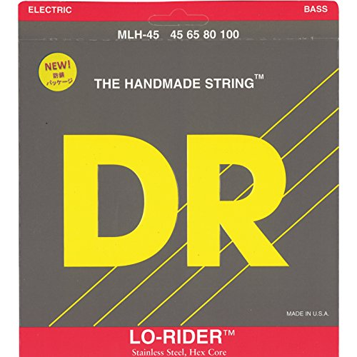 DR Strings Lo-Rider - Stainless Steel Hex Core Bass 45-100