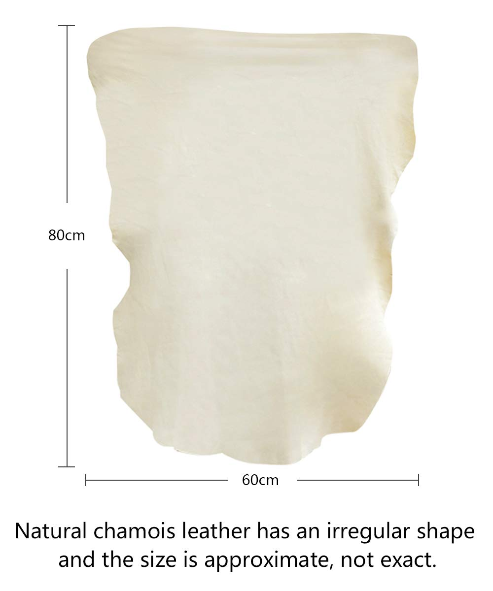 VIVOTE Chamois Leather Large Car Leather Chamois Natural Shammy Leather Cloth 5.8 Square FT