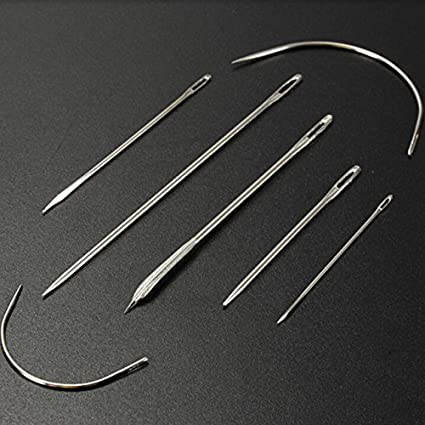 Household Repair Sewing Needles Pack Upholstery Carpet Leather Curved Sailmaker