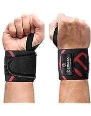 Wrist Wraps Pols Polsbrace Fitness Krachttraining Bodybuilding: Pull Up - 2x Polsbanden, Polssteun voor zware gewichten, halters, barbells | Polsbeschermers Vrouwen Mannen Calisthenics Sport Training