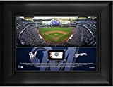 "Milwaukee Brewers Framed 5"" x 7"" Stadium Collage with a Piece of Game-Used Baseball - MLB Team Plaques and Collages"