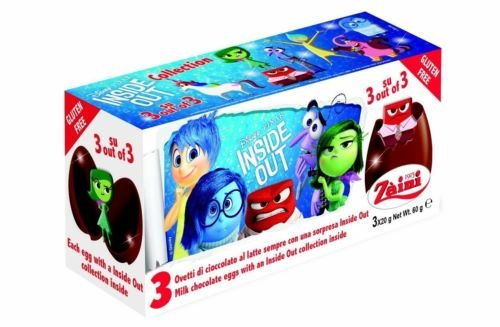 6 Eggs (2 Boxes) Disney Pixar Inside Out Chocolate Surprise Inside, Free Gift