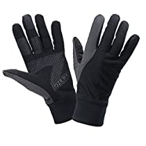 OZERO Touch Screen Gloves for Women, Cold Weather Windproof Thermal Glove for Smartphone Texting - Non-Slip Silicone Gel and Hand Warmers for Womens Cycling and Running