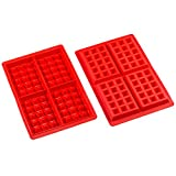 Sorbus 4 Cavity Silicone Waffle Mold, Non-Stick, Easy To Clean, Oven / Microwave / Dishwasher / Freezer safe, Heat Resistant Up To 450°F (Set of 2)