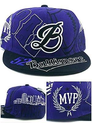 Baltimore New Leader Top MVP 52 Lewis Ravens Purple Black Era Snapback Hat Cap