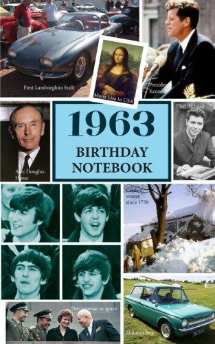 1963 Birthday Notebook: a great alternative to a birthday card (55th Card Birthday)