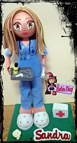 Fofucha personalizada Enfermera uniforme azul 1