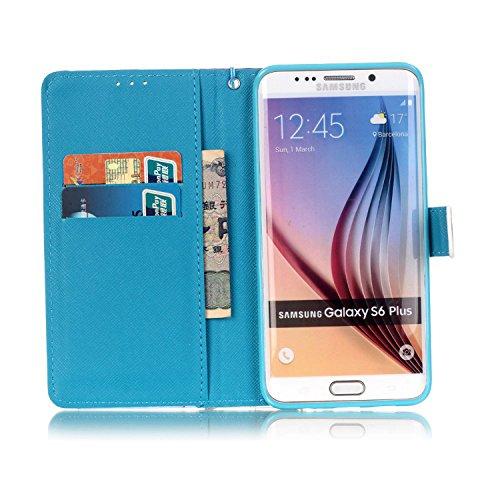 PU Silikon Schutzhülle Handyhülle Painted pc case cover hülle Handy-Fall-Haut Shell Abdeckungen für Smartphone (Samsung Galaxy S6 Edge Plus) +Staubstecker (S3) 1