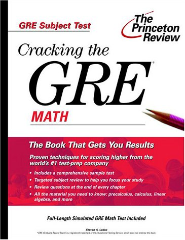 Cracking the GRE Math (Princeton Review: Cracking the GRE)