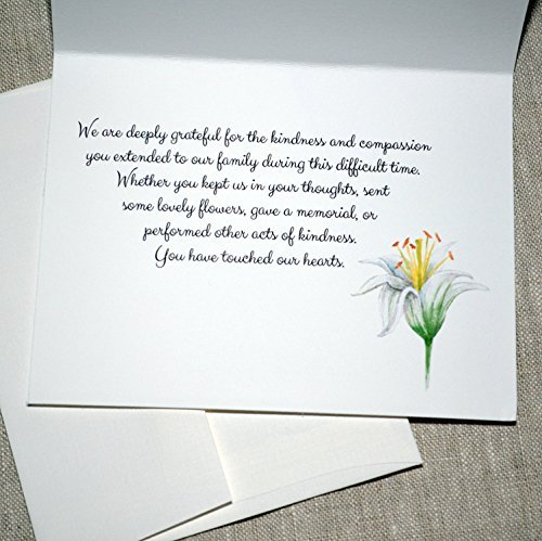 Thank You for Your Kindness and Support (Lily)- set of 10 cards