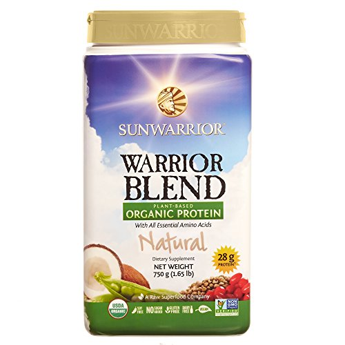 Sunwarrior - Warrior Blend, Raw, Plant-Based, Organic Protein, Natural, 30 servings