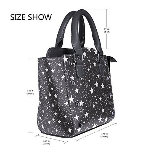 TIZORAX Leather Stars Tote Bags Women's TIZORAX Handbags Shoulder Stars IwTqP4P5
