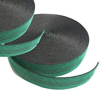 Cincha de tapicería elástica de 60 mm, correas de calidad para asientos de sofás, 12 metros