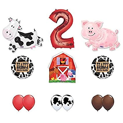 Amazon.com: Barn Farm Animals 2º cumpleaños fiesta ...