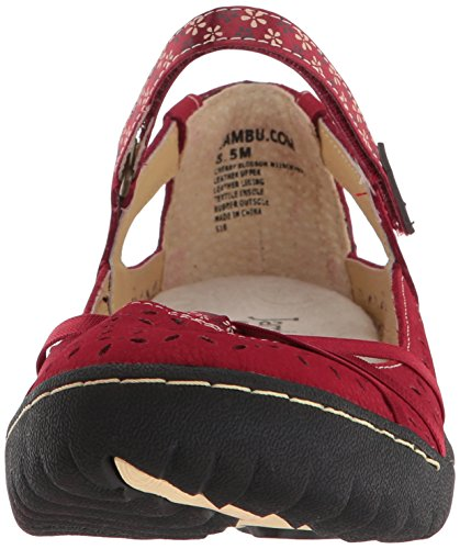 Mary WoMen Jane Jambu Red Blossom Black Flat Cherry Cream tx1qPqg