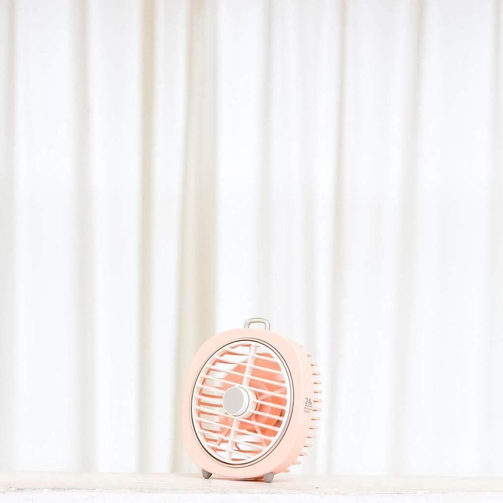 Vanankni USB Desk Fan USB Power Fan Ultra-Quiet Third Gear Speed Mini Fan LED Light for Office Desktop Bedroom