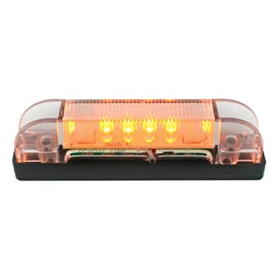 "Grand General 76221 4"" Long Thin Line Wide Angle 6 LED Amber/Clear Marker & Clearance Light: Automotive"