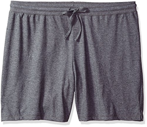 Fit for Me by Fruit of the Loom Women's Plus Size Jersey Short, Charcoal Grey Heather, 4X