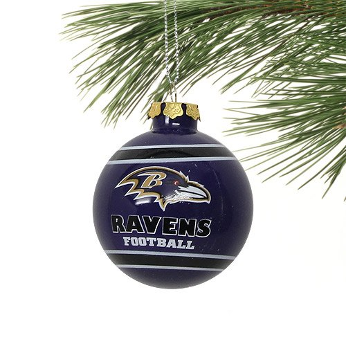 Baltimore Ravens 2012 Team Logo Glass Ball Ornament