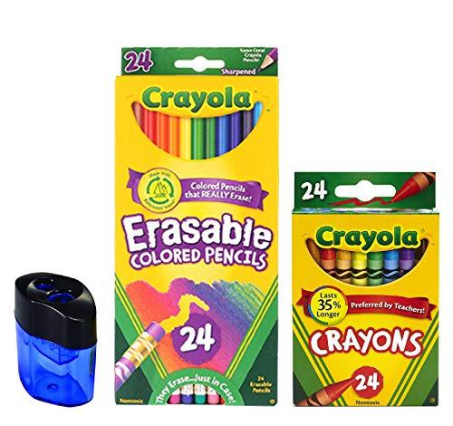 🥇 Crayola Erasable Colored Pencils