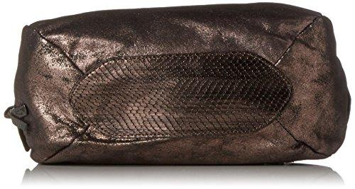Tamaris Damen Ava Bowling Tasche, 14x25x26 cm Gold (Pewter Comb.)