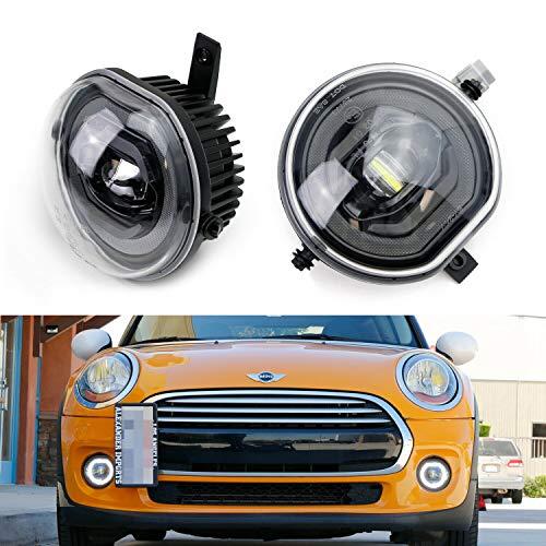 Mini Led DRL Fog Light Kit - NSLUMO LED DRL LED Halo Ring Parking Lamp Kit For Mini Cooper F55 F56 13-18 F54 Clubman 14-18 F57 Cabrio 14-18 Super Bright Led Driving Lamps