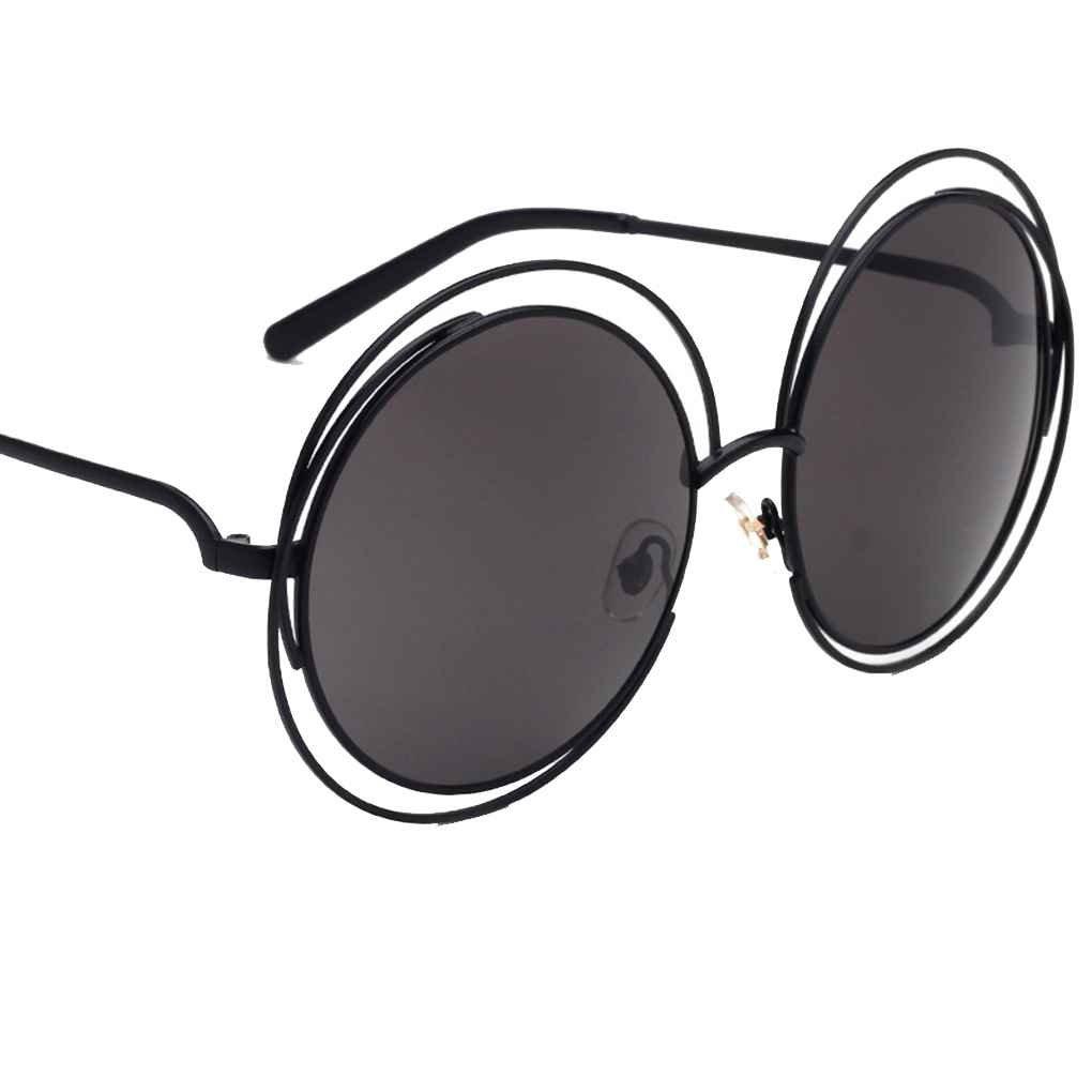 Lidahaotin Lega Donne tondo Uomini montatura degli occhiali da sole di protezione UV400 resina lente metallo occhiali da sole unisex C3# miER2sRl
