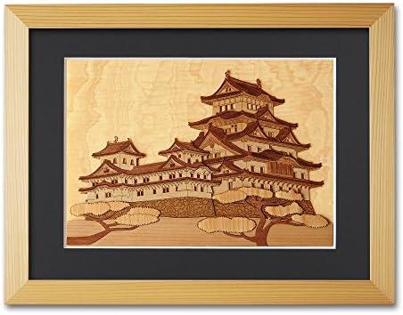KINOWA 「姫路城」 木はり絵 オリジナル キット & 額縁 セット 世界遺産 日本製