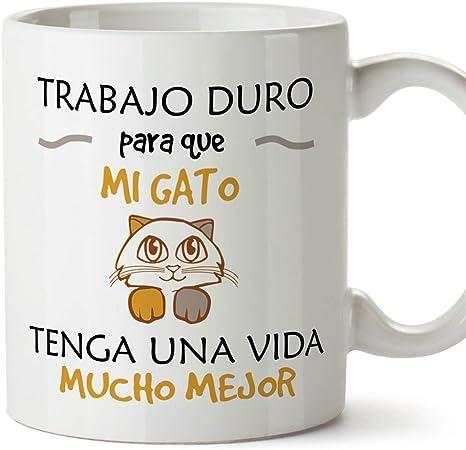 MUGFFINS Taza Gato (Gatito Vida Mejor() - Regalos Originales y Divertidos para Amantes de las Mascotas: Amazon.es: Hogar