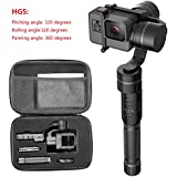 Hohem 3 Axis Stabilizer Handheld Electronic 360/320 Degrees Gimbal Camera Grip for Gopro Hero 6/5/4/3, Yi 4K, AEE Sports Cams - APP Controls for iPhone/Android Phone (HG5)