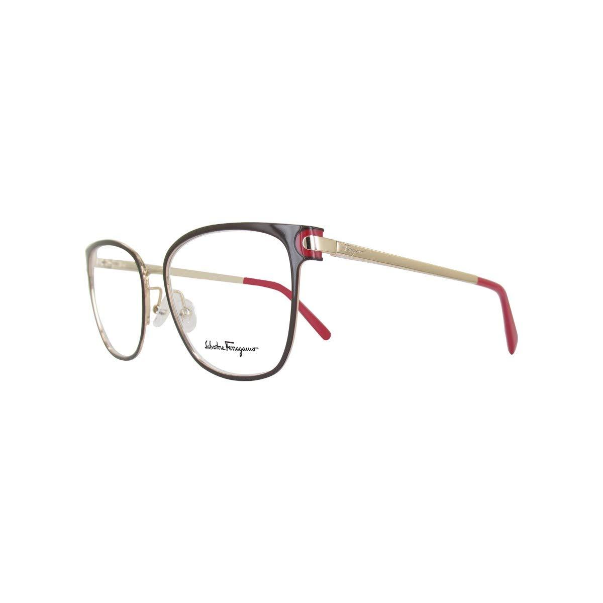 559760510c5 Amazon.com  Eyeglasses FERRAGAMO SF2150 251 BROWN-SHINY GOLD  Clothing