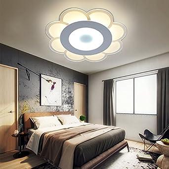 yxhflo techo LED Slim Floral personalidad cálida luz cámara ...