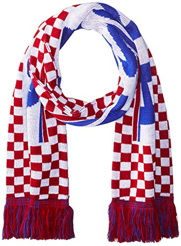 National Soccer Team Croatia Jacquard Knit Scarf, One Size, Red/White/Blue