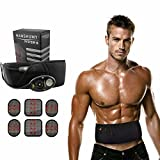 Cheap Woolala Electrical Abdominal Toning Belts Muscle Stimulation Toner Belt Waist Trimmer Belt, Unisex Abs Fitness Trainer Wireless Home Slimmer Treatment For Men & Women,150