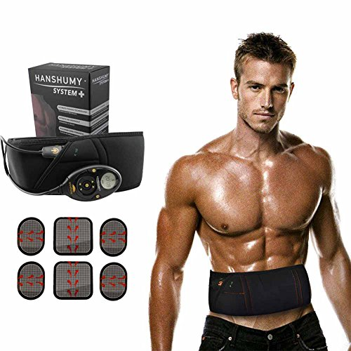 Woolala Electrical Abdominal Toning Belts Muscle Stimulation Toner Belt Waist Trimmer Belt, Unisex Abs Fitness Trainer Wireless Home Slimmer Treatment For Men & Women,150